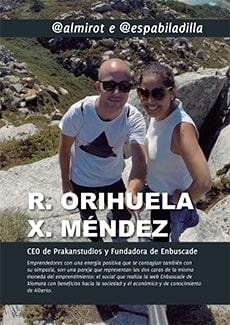 Portada del capítulo dedicado a Xiomara y Alberto en el libro Emprendedores de Canarias