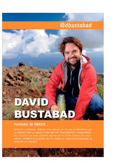 Portada del capítulo de David Bustabad en el libro Emprendedores de Canarias