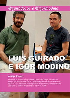 Portada del capítulo dedicado a Luis Guirado e Igor Modino en el libro Emprendedores de Canarias