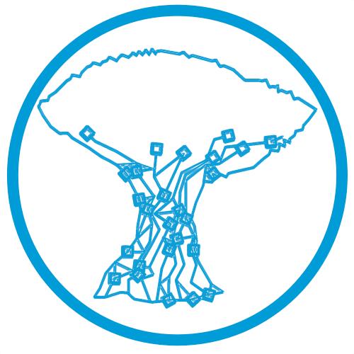 Drago. Logo en la portada de los dos primeros tomos del libro Emprendedores de Canarias